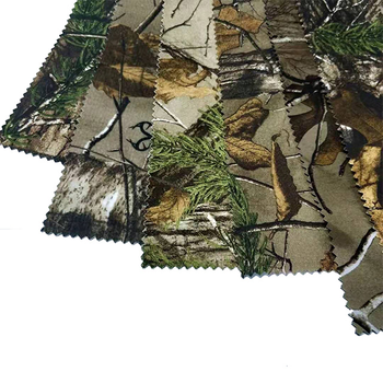 "Hunting fabric,Wholesale High Quality 100%Polyester Oxford with ""Real tree"" printing and backside fabric for garment"