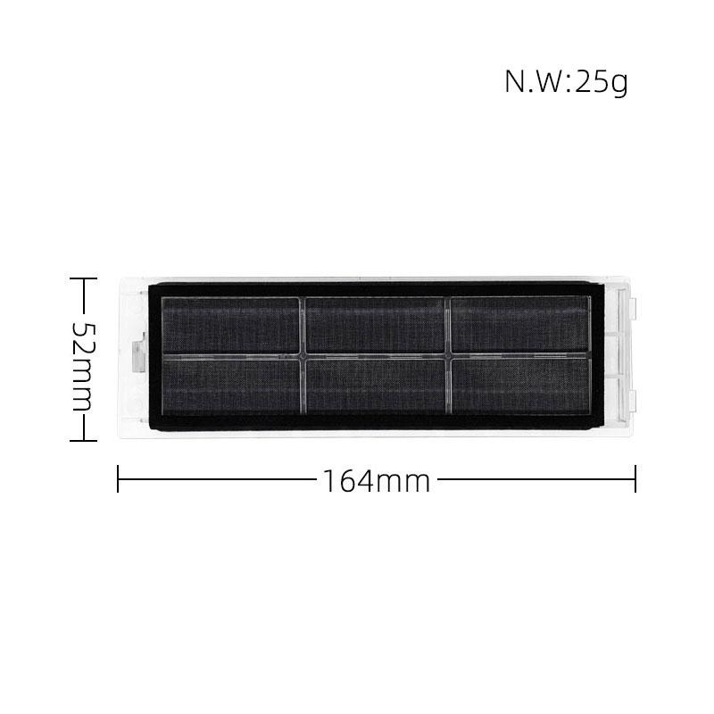 Фильтр с активированным углем основной щетки 5-вооруженных мягкая боковая щетка для Xiaomi Roborock S4 S5 S6 T60 T6 S1 робот пылесос запчасти тряпка для швабры