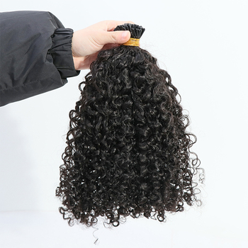 raw unprocessed virgin human kinky straight i-tip hair extensions
