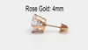 Rose Gold 4mm