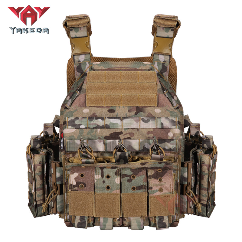 On Sale YAKEDA MOLLE Hunting Combat Buletproof Plate Carrier Army Militray Tactical Vest