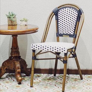 Bistro Vintage Aluminium Outdoor Furniture Flower Dining Garden Rtaan Chair