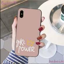 Babaite милая девушка сила эстетический клиент высокое качество чехол для телефона для iPhone 8 7 6 6S Plus X XS MAX 5 5S SE XR Coque Shell(Китай)