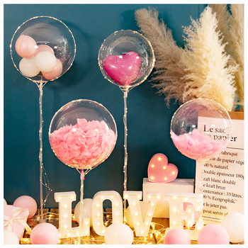 2021 new trend romantic bobo balloon flower petals Valentine's Day mother's Day decoration gift