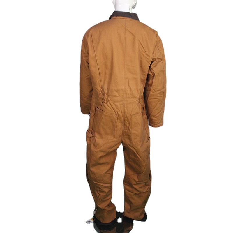 Мужские Водонепроницаемые изолированные Спецодежда Рабочий Комбинезон для мужчин любого размера прочный осенний коричневый 60-75days Ex-factory