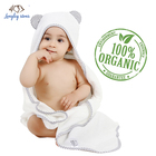 Wholesale 90*90cm welcomed animal design 100% bamboo terry baby hooded bath towel