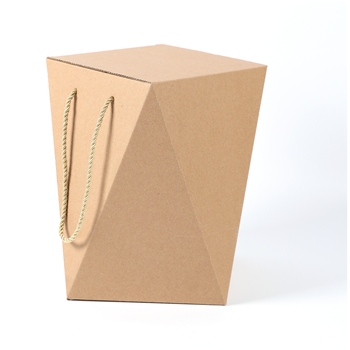 Unique design packing corrugated nuts cookies snack packaging gift box with rope handle