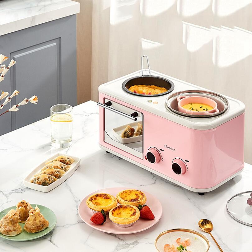 Новый дизайн, 3 в 1, автоматическая многофункциональная машина для приготовления сэндвичей