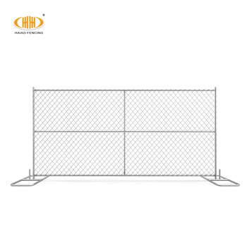6x12 portable galvanized iron chain link temporary fence panel in america for events