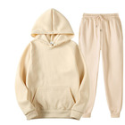 Custom Blank Men's Pullover Casual Gym Sports Tracksuit Sweatshirt Fleece Linner Hoodies Winter 2 Pieces Sets
