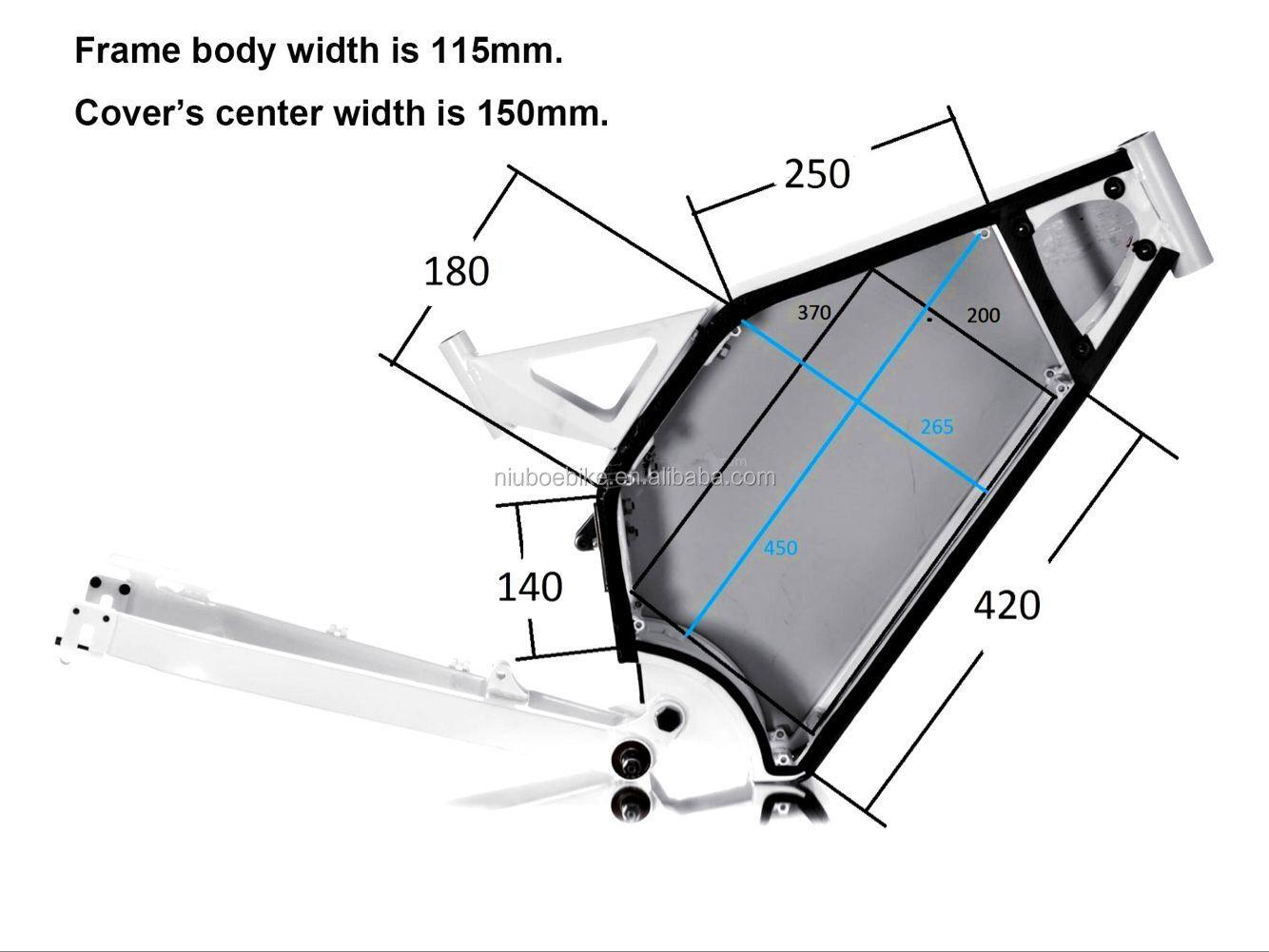 NBpower 72V38.4Ah 18650 литиевая батарея внутри для 3000W 5000W 8000W Enduro Bomber Electric Bike Frame