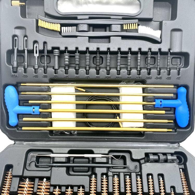 Universal Gun Cleaning Kit Hunting Handgun Shotgun and Rifle Cleaning Kit for All Guns with Case Travel Size Portable