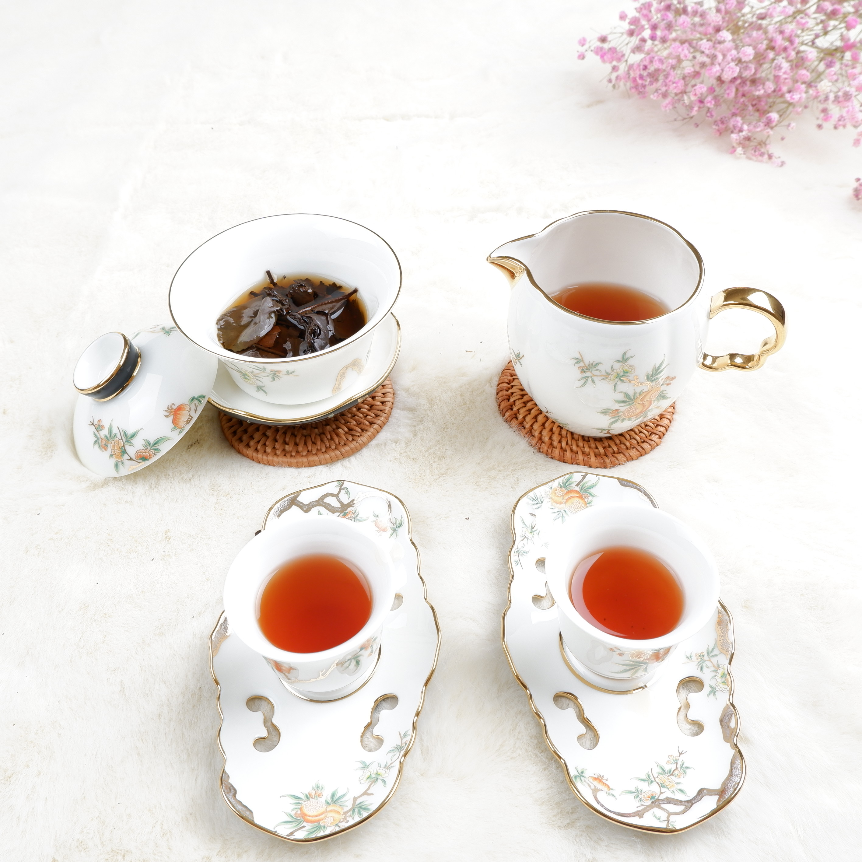 Hand Made Fermented High Mountain Fuding Shoumei White Compressed Tea - 4uTea | 4uTea.com