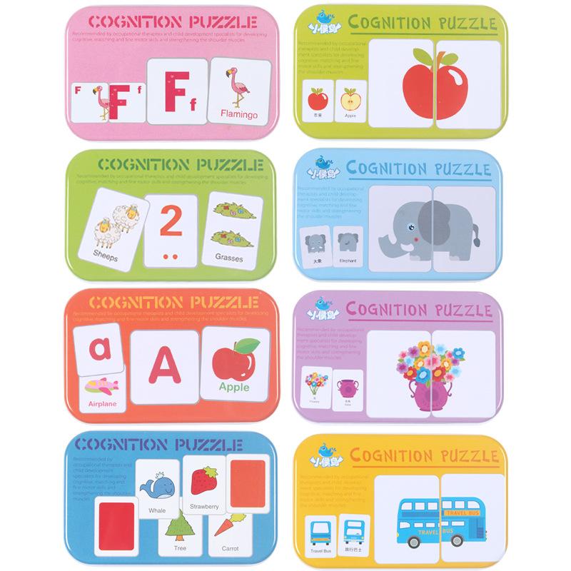 Автомобильные/животные/фрукты/Товары для обучения, флэш-карты для раннего обучения, Детские когнитивные карты-головоломки против разрывов