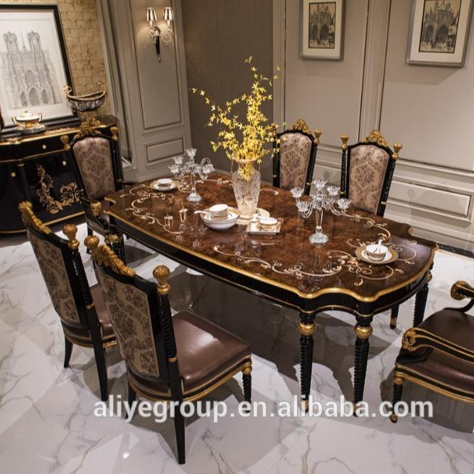 Classic Luxury Wooden Dining Room Set European Style Dining Room Set Cheap Dining Table Set Buy Luxury Wooden Dining Room Set Cheap Dining Table Set European Style Dining Room Set Product On Alibaba Com