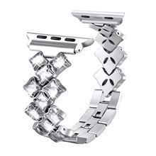 Ремешок для apple watch 38 мм 42 мм 40 мм 44 мм iWatch 5 ремешок для женщин бриллиантовый браслет для apple watch Series 5 4 3 2 1 ремешок из нержавеющей стали(China)