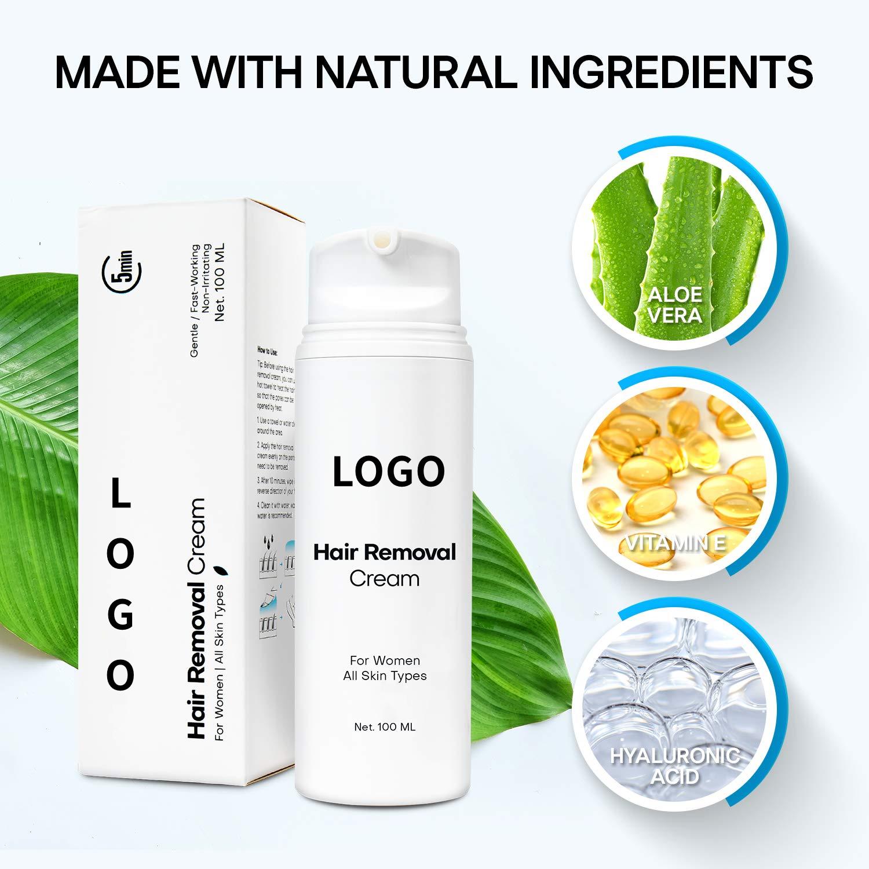 Лидер продаж, Собственная Марка, влагалище, органический Депиляционный Крем для удаления волос