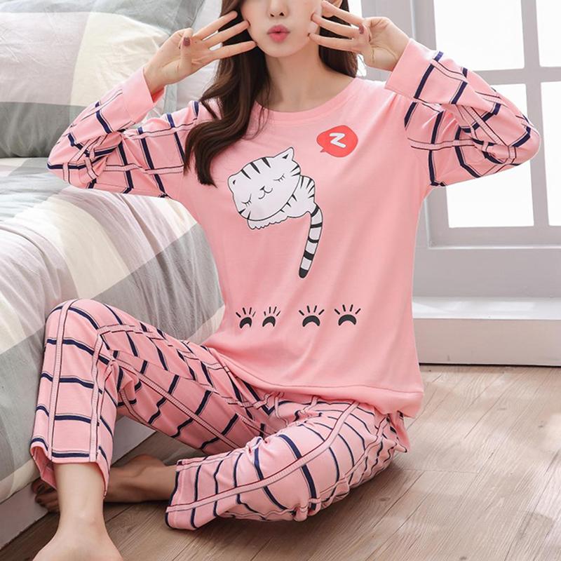 De Dibujos Animados De Pijamas De Las Mujeres De Invierno De Manga Larga Ropa De Dormir Pantalones De Gran Tamano Lindo Pijamas Top Y Pantalones De Pijama Calido Conjunto Buy Conjunto
