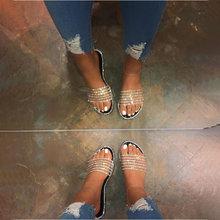 Женские блестящие вьетнамки на плоской подошве; Женская Повседневная модная обувь из искусственной кожи; Блестящие женские тапочки; Женска...(Китай)