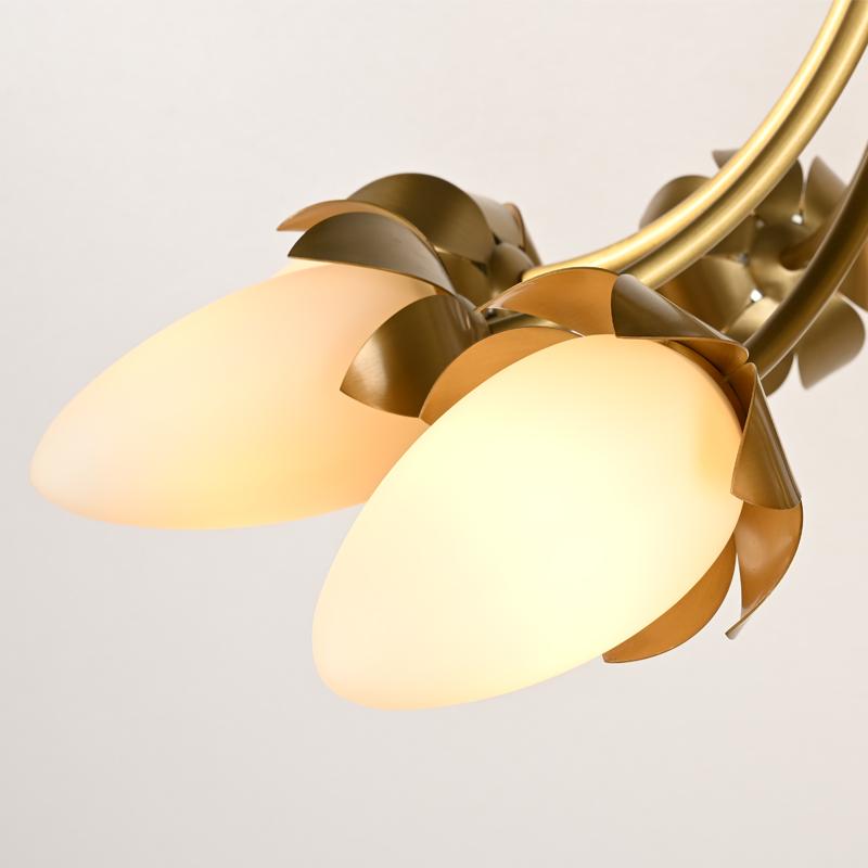 Новые изобретения, Цветущий цветок, стеклянный шар, солнечный свет, лампа для кафе, люстра, классическая люстра