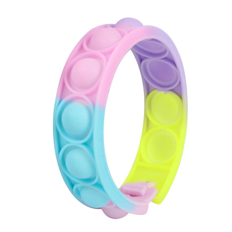 2021 Радужная пузырьковая игра, игрушка-антистресс, антистрессовые игрушки, спортивный браслет для декомпрессии
