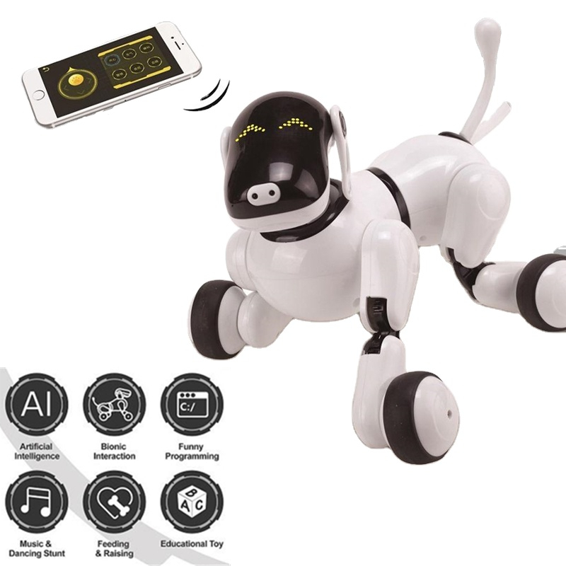 Intelligent Educational Smart APP Touch Voice Control Programming Dog Robot