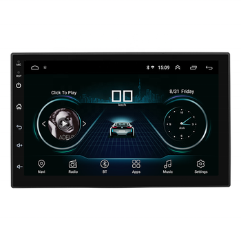 Universal 7 Inch Car Stereo Gps Android Head Unit Rohs Car Dvd aAutorradios Multimedia With Dvd