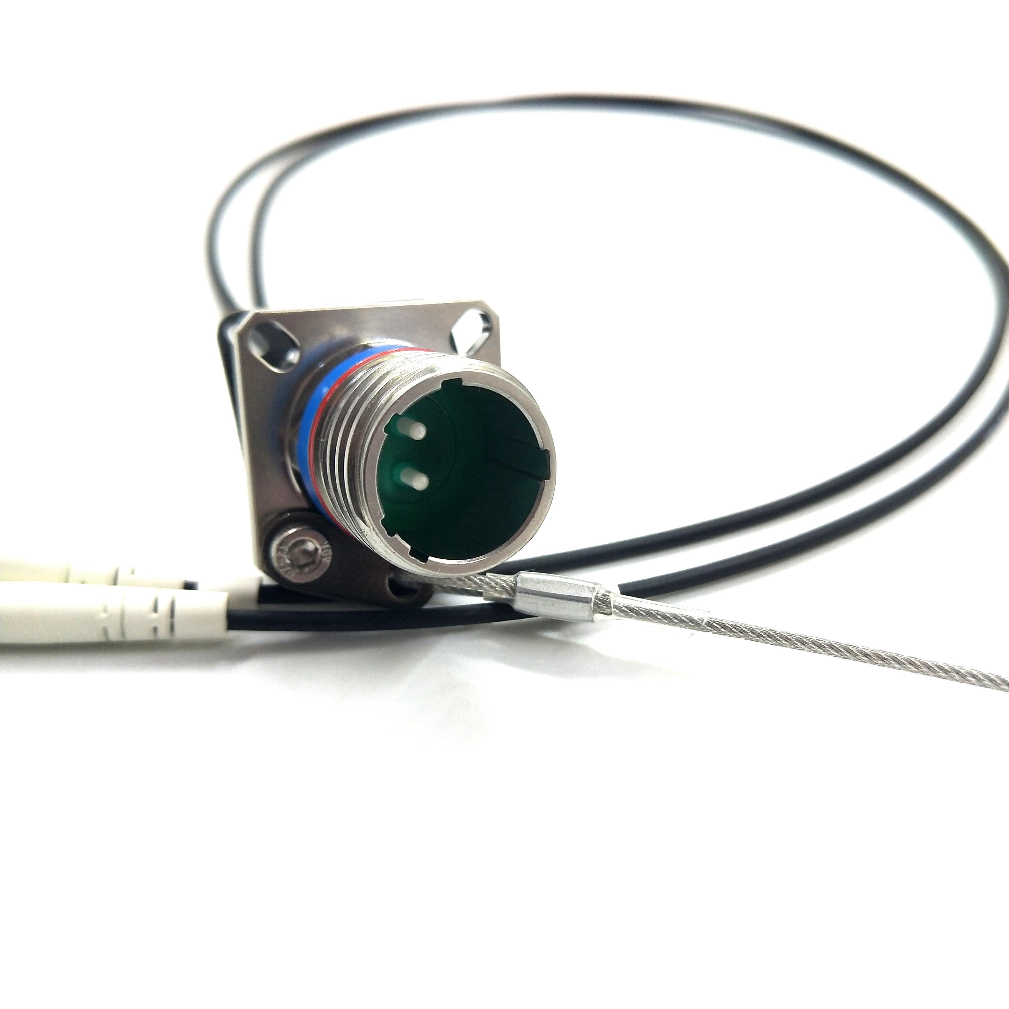 MIL-DTL-38999 Series standard circular connectors Military Tactical 2Cores socket fiber optical Cable Assemblies