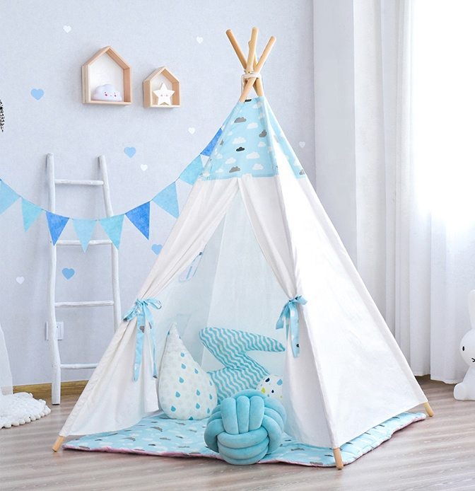 Оптовая продажа, палатка-вигвам для детей и взрослых, из хлопка