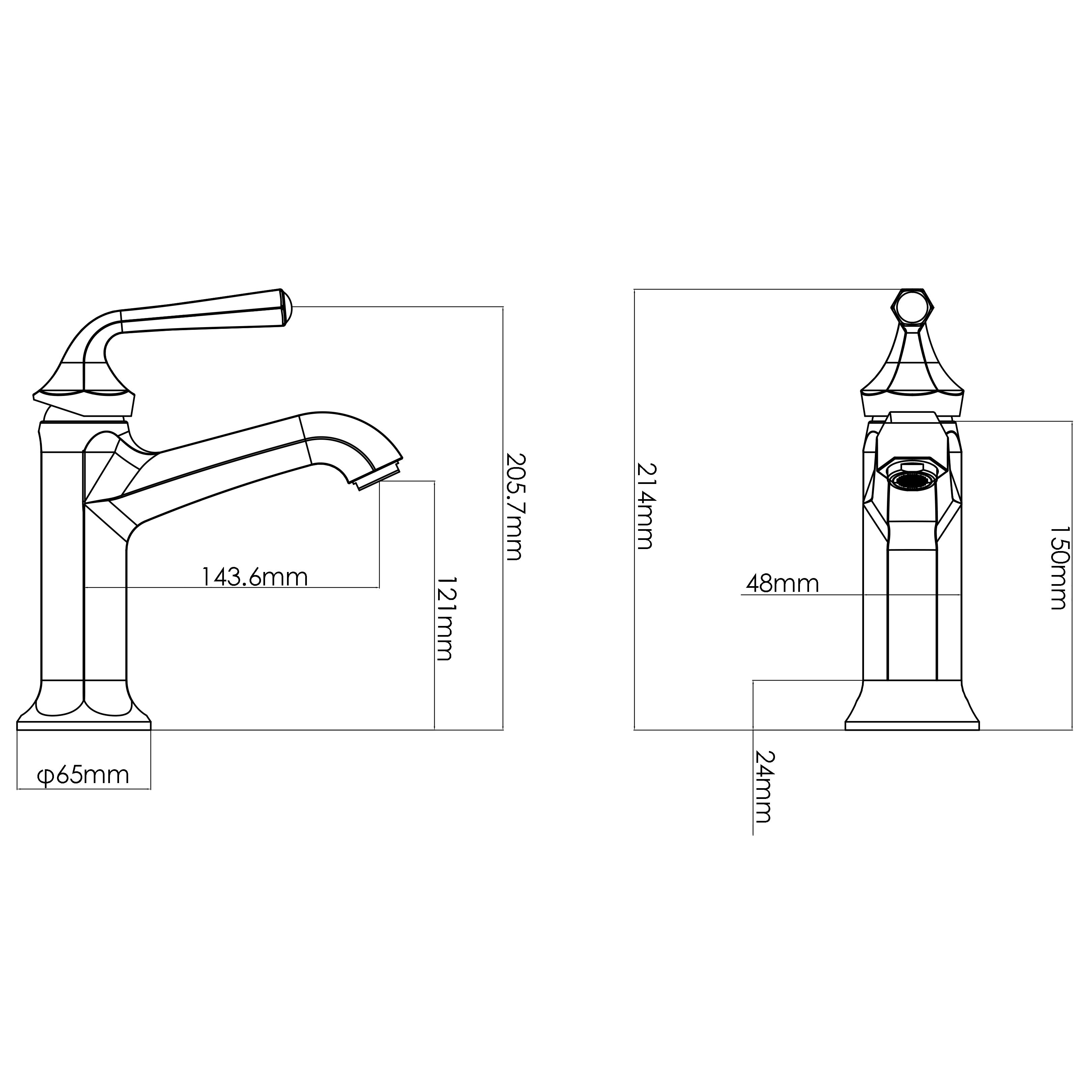 Лучший хромированный кран с одной ручкой для раковины и умывальника (CUPC)