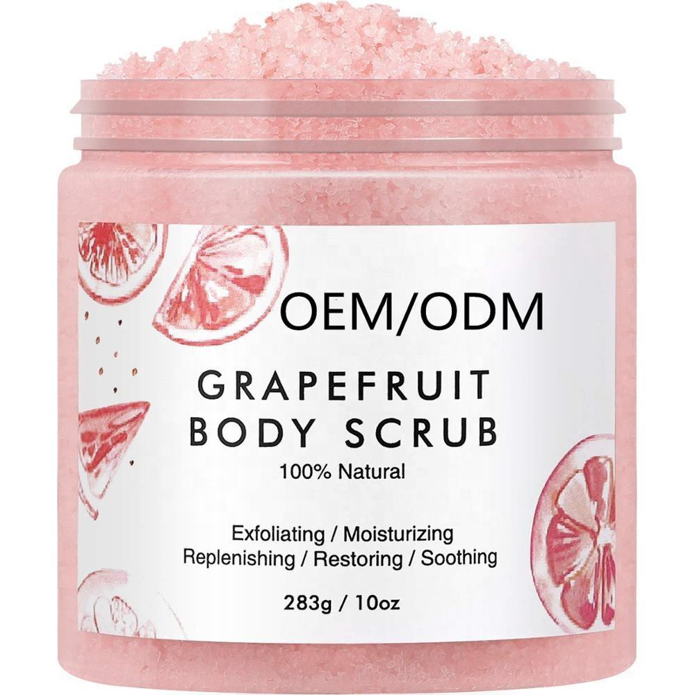 OEM OEDM Private Label All Natural Anti Cellulite Dead Sea Salt Body Scrub