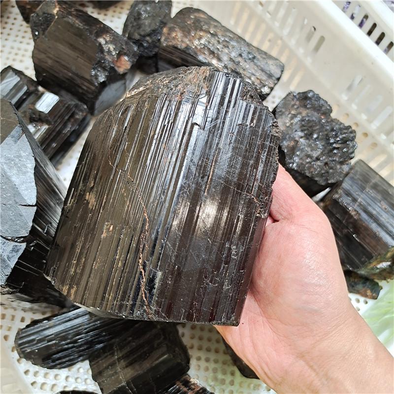 Wholesale Bulk High Quality Large Natural Black Tourmaline Rough Stone Black Tourmaline Big Raw Black Tourmaline Quartz Crystal