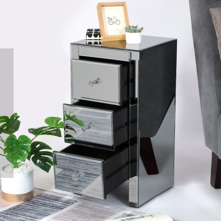 wholesale mirrored dressers furniture silver chest of drawers with 5 drawers