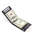 Thin Minimalist Men's Wallet RFID Blocking Money Clip RPET Lining Slim Thin Genuine Leather Wallet