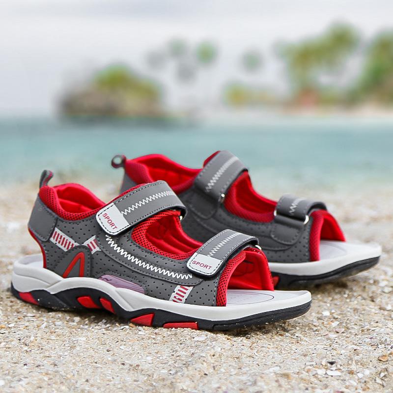 Легкие удобные кожаные детские повседневные сандалии, летняя обувь для детей