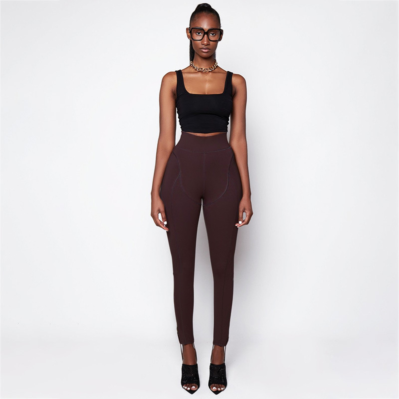 M23343 Fashion New Style High Waisted Fitness Tight Pant Gym Yoga Leggings For Women
