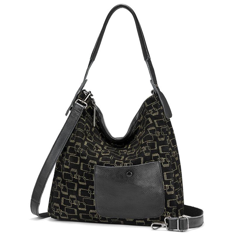 REALER женская сумка на плечо из натуральной кожи большие сумки-шопперы для женщин 2020 hobos Лоскутные роскошные сумки женские дизайнерские сумки(Китай)