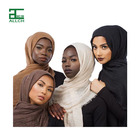 ALLCH 2021 Wholesale Fashion Solid Color Shawl Muslim Women Cotton Crinkle Hijab Scarf