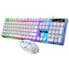 Putih Keyboard & Mouse