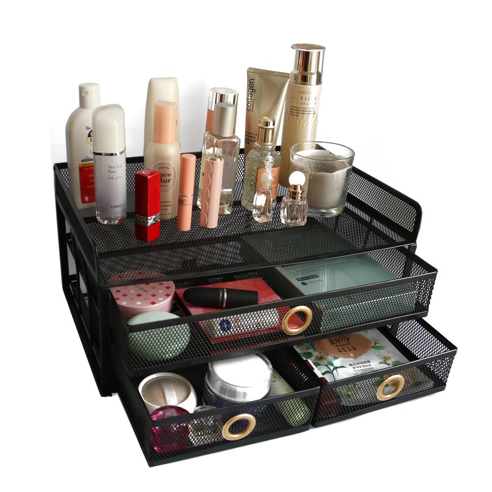Оптовая поставка, разделительная доска для дома, спальни, настольного стола, ящики для хранения с металлической сеткой