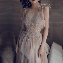 Женское вечернее платье цвета хаки на тонких бретельках с v-образным вырезом и пайетками, длинное платье большого размера 4XL(Китай)