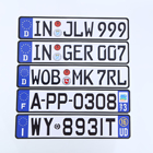 Plate Cheapest Wholesale Embossed Number Plate Custom Logo Plate