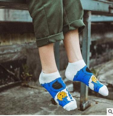 Носки для косплея с изображением мультяшной Улица Сезам Elmo печенье монстр модная новинка Смешные Милые женские носки осенние удобные хлопковые носки