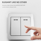 Electric Switch New Design EU Standard Electric Power 2 Gang Wall Push Button Switch