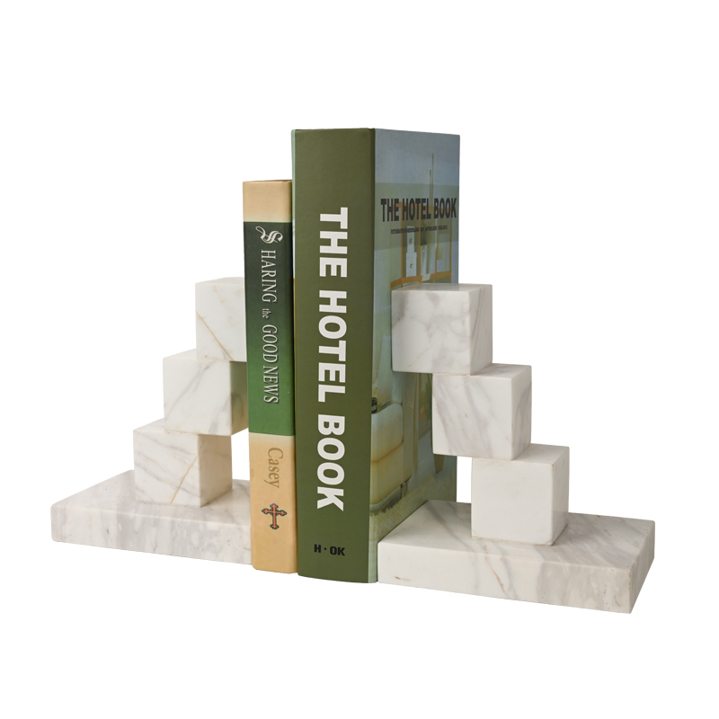 Cuboid ламинированный современный домашний подсвечник Декор Мраморная Подставка для книг