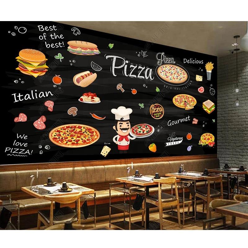 Custom Pizza 3d Mural Wallpaper Restaurant Burger Decoration Buy Wallpaper Design Pizza Wallpaper 3d Wallpaper Product On Alibaba Com