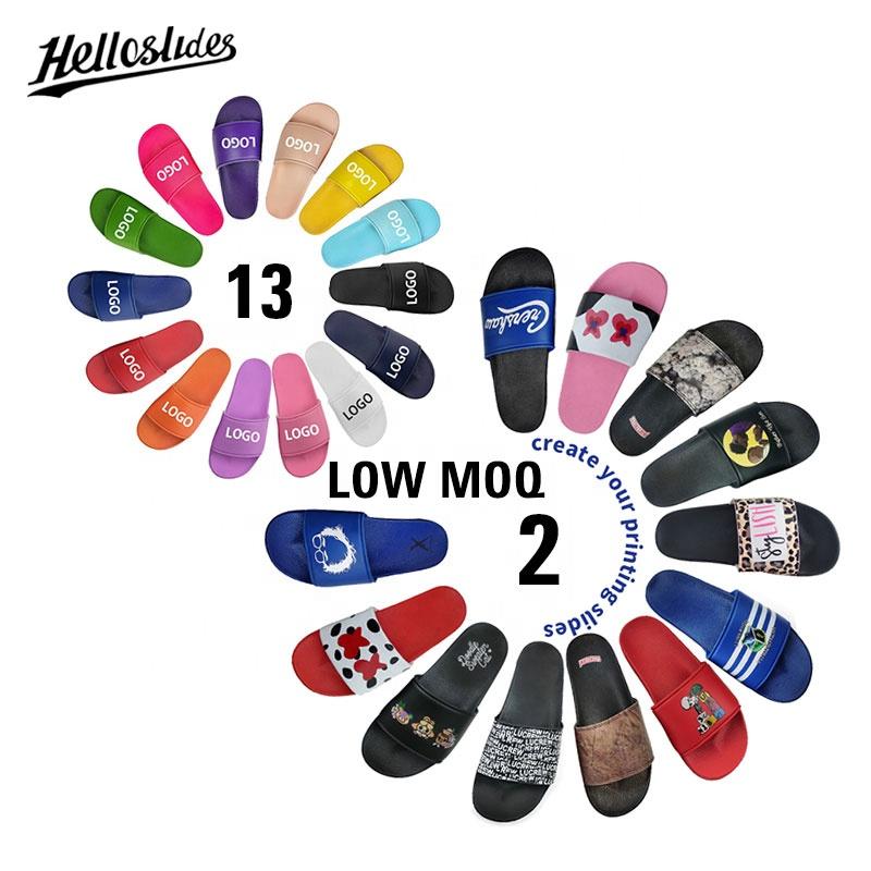 Helloslides Custom Logo Mens Slipper Slides Sandals Custom Sandals Slides With Logo Slides Custom Logo Men