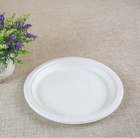 Pulp Paper 9 Inches Catering Plate Molded Fiber Pulp Paper Plate Tray Box Bulk Order Retail Pack Disposable Biodegradable Compostable ECO