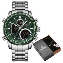 Новинка 2020, часы NAVIFORCE, модные роскошные аналоговые цифровые часы с двойным дисплеем, мужские часы, повседневные спортивные наручные часы, ...(China)