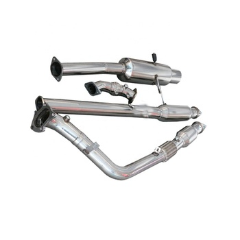 High performance racing car exhaust system for SUBARU WRX STi 02-07